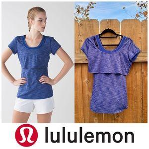 Lululemon Sweat bound tee Heathered sapphire blue